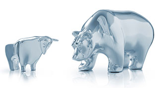 Publicly Traded Bear and Bull Statues